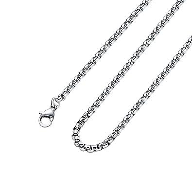 Amazon.com: Monily - collar de cadena de acero inoxidable ...