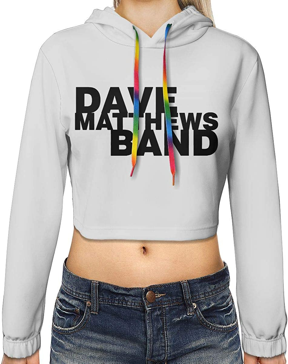 Womens Dave Matthews Band Long Sleeve Sweatshirt Hooded Girls Crop Top Hoodies