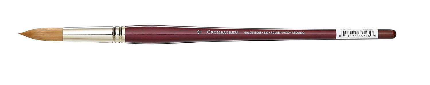 Grumbacher Goldenedge Golden Toray Round Oil and Acrylic Brush, Synthetic Bristles, Size 2 (630R2G) Chartpak Inc.