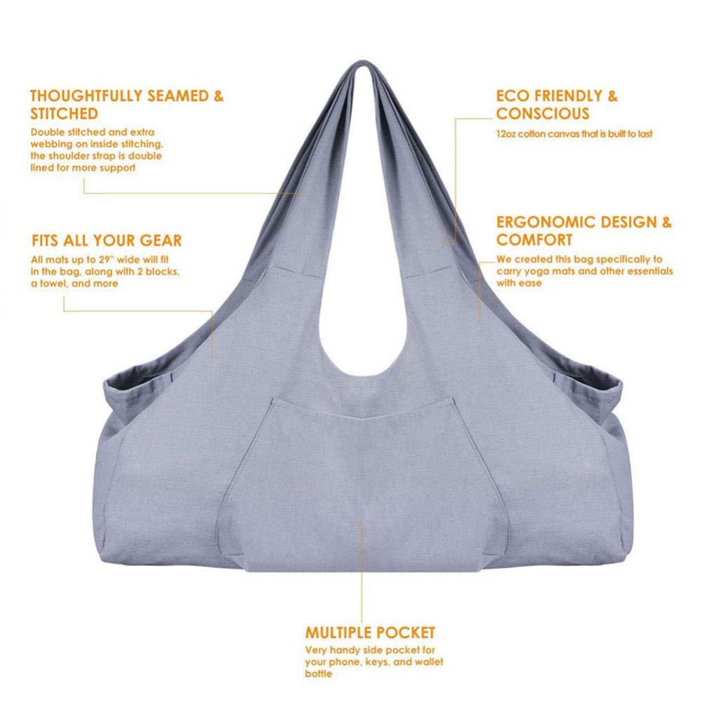 Zipvb Bolsas de Gimnasia Almacenamiento Sólido Yoga Mat Bag ...