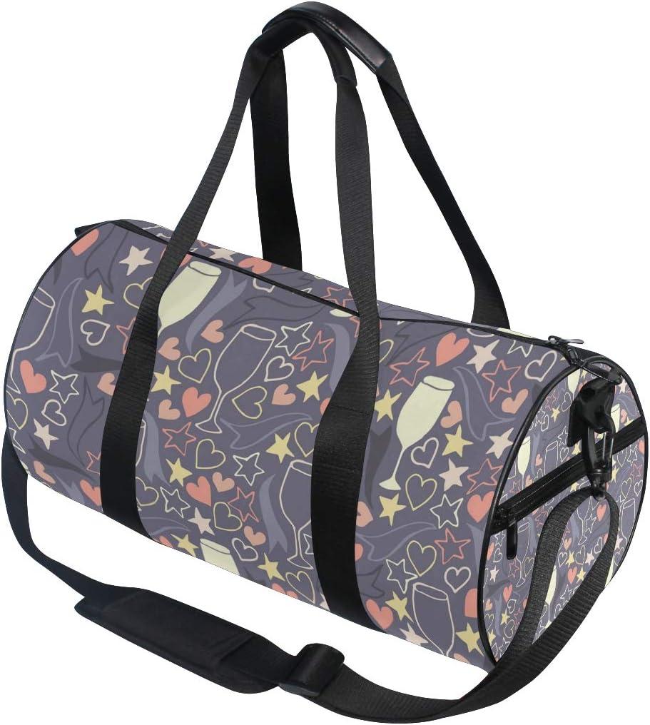 MALPLENA Red Wine Glass Drum gym duffel bag women Travel Bag