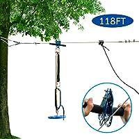 JOYMOR 118ft Backyard Zip Line Kit with Detachable Trolley, 304 Stainless Steel...