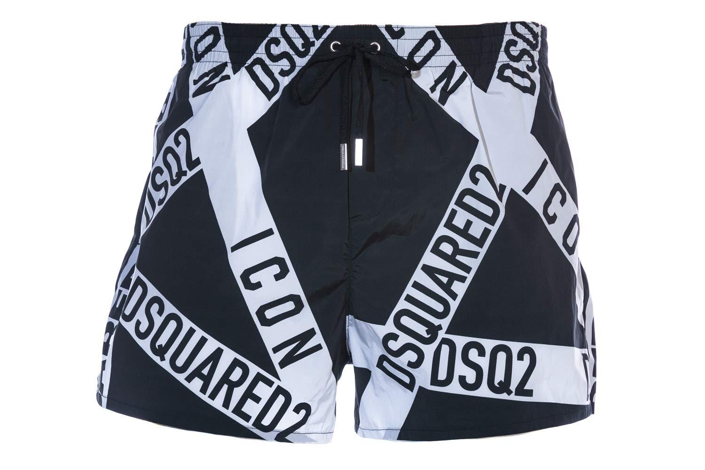 Dsqaured2 Tape Logo Swim Short in Black