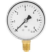 50mm Medidor de presión de entrada trasera 0-400 Psi aire y sin aceite Unido Entrega