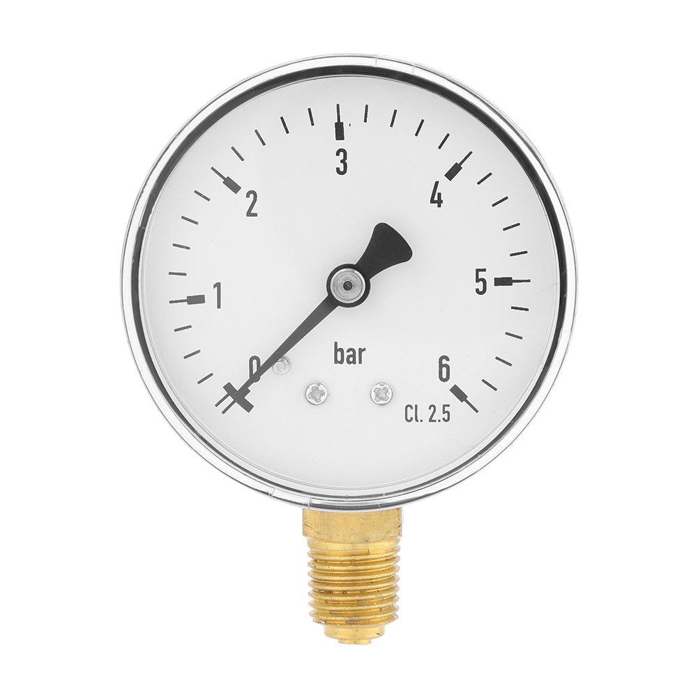 Manómetro de presión hidráulica de 1/4 de pulgada NPT