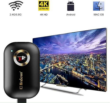 Adaptador de Pantalla inalámbrico Dongle Receiver, 5G/2.4G HDMI Display Adaptador para iOS Android Smartphones Tablets, Windows Mac OS Ordenadores portátiles a Monitor de proyector de TV: Amazon.es: Deportes y aire libre