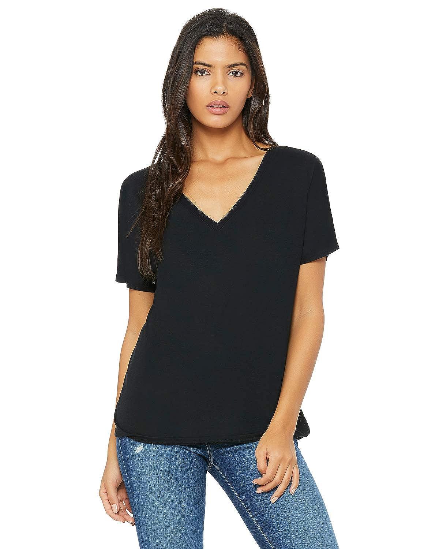 a0b6095d631 Bella + Canvas womens Flowy Simple V-Neck T-Shirt - 8815
