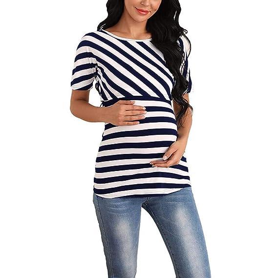nuevo estilo 5578b 5994a Vectry Camisetas Premama Verano Las Mujer Embarazadas De ...