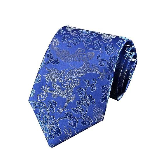 JUNGEN Corbata Hombre Corbata de Estampada Vintage Corbata Totem ...