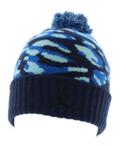 Nike Jordan Retro Camo Elephant Print Beanie Cuffed Cap Winter Pom Hat  (Royal Sky Midnight Navy Blue Mix)  Amazon.ca  Clothing   Accessories 9386912c08f