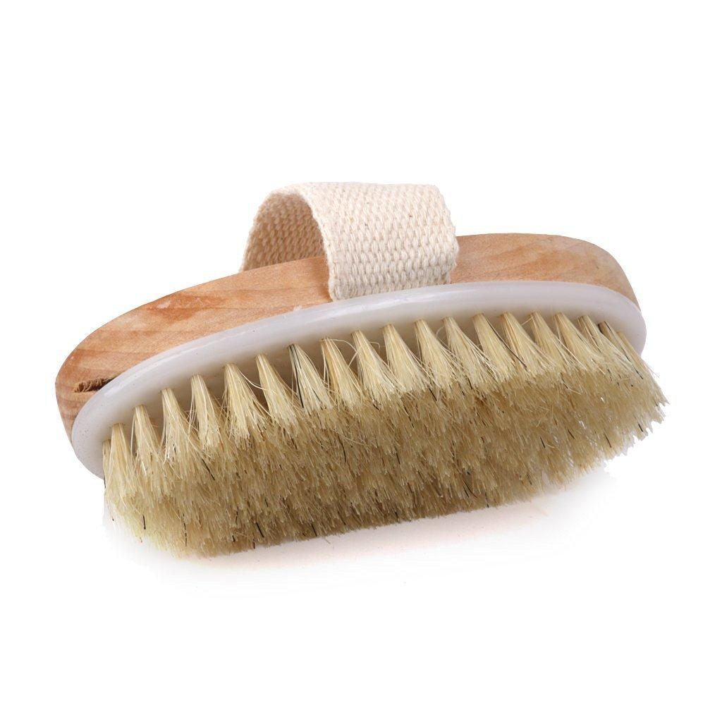 Spazzola doccia corpo spa, spazzola con setole naturali con fascia per impugnatura kimberleystore