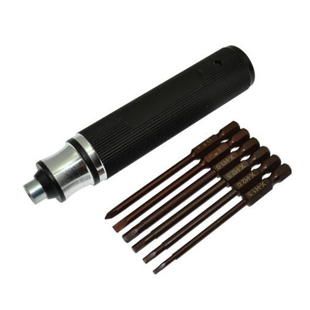 Baoblaze 6 in 1 Hex Screw Driver 1.5/2.0/2.5/3.0mm Screwdriver for RC Car Repair Tool