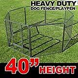 New MTN Gearsmith 40″ Heavy Duty Dog Indoor/Outdoor Deluxe Metal Fence/ Exercise Pan Playpen