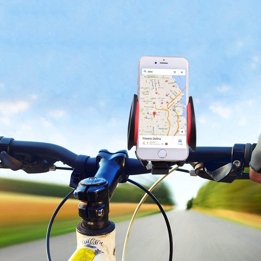 DDS Soporte para Teléfono Móvil ABS + Hardware, Equipo para Montar En Bicicleta, Soporte para Teléfono Móvil para Bicicleta De Montaña, Compatible con iPhone, Samsung ...