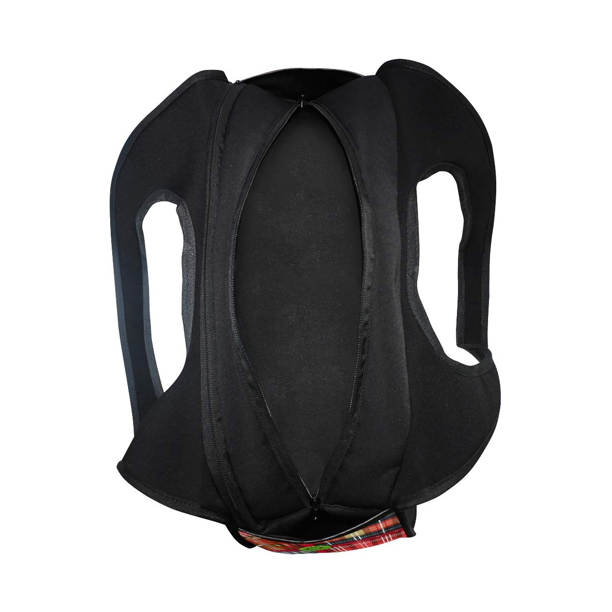 Gym Bag Sports Holdall Christmas Plaid Canvas Shoulder Bag Overnight Travel Bag for Men and Women