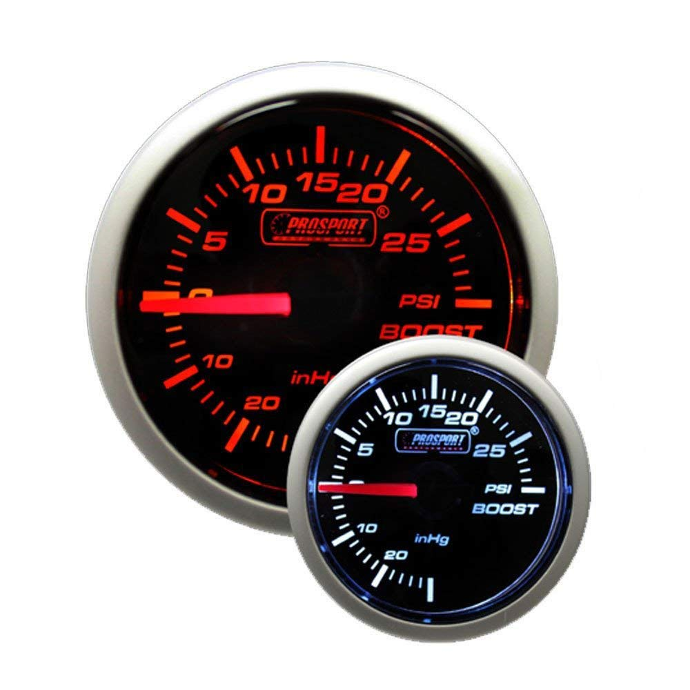 Boost Gauge Mechanical Amber White Performance Series Electrical Install Dsmtuners 52mm 2 1 16 Automotive
