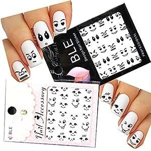 smiley face nail art
