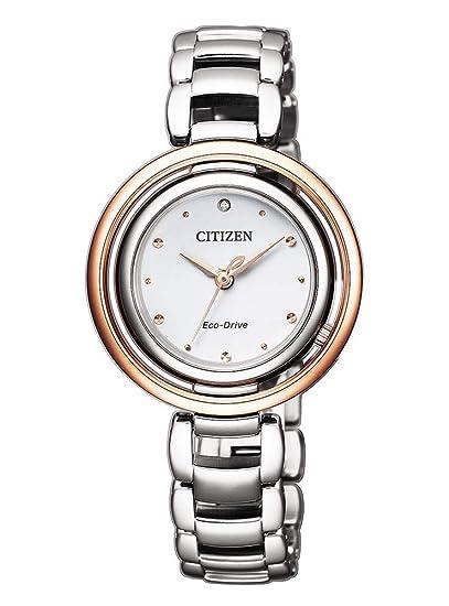 Citizen Ecodrive EM0668-83A - Reloj para Mujer Bicolor ...