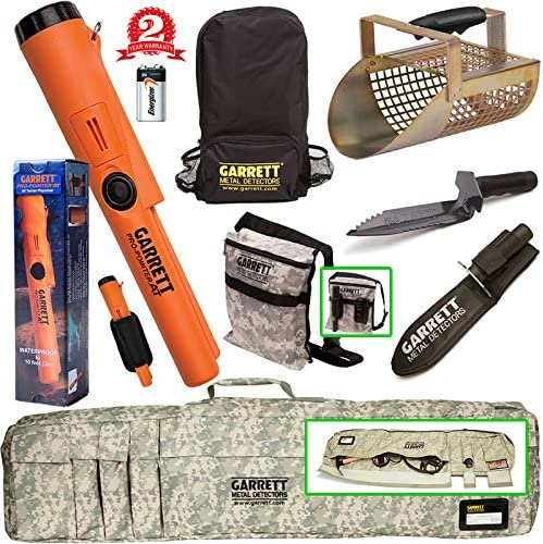 Garrett Propointer AT Underwater Pinpointer Camo Softcase Edge Digger Sand Scoop Backpack Digger s Pouch