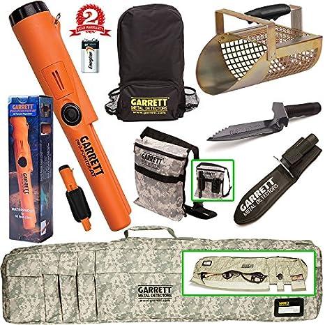 Garrett ProPointer en bajo el agua PinPointer + camuflaje estuche blando borde + excavadora + cuchara de arena + Mochila + Bolsa de la Excavadora: ...