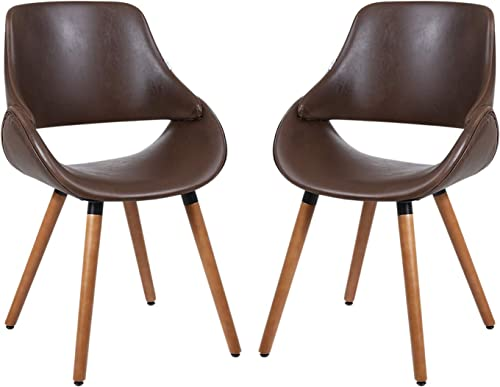 HOMEFUN Mid-Century Modern Dining Chair Set of 2