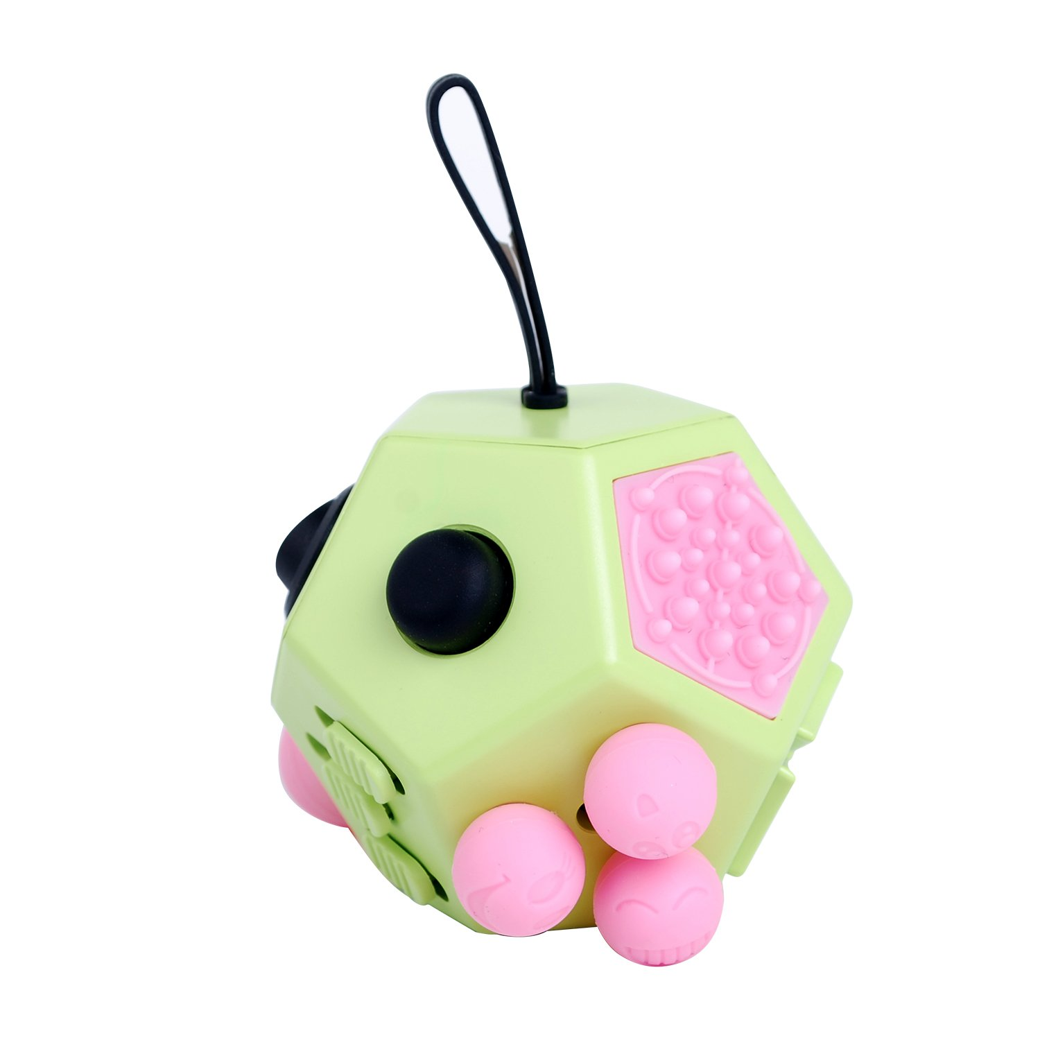 Fidget Cube Toys, Relieves Stress and Increases Focus for Adults and Children with ADHD ADD OCD Autism - 12 Sides Fidget Dice (Green) by BSL (Image #4)