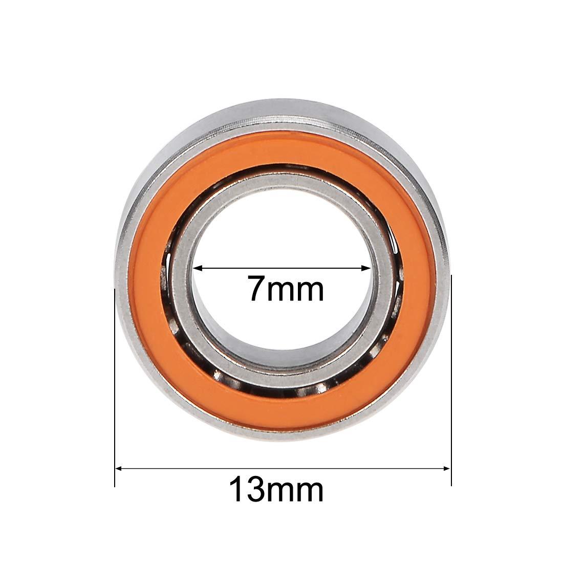 sourcing map SMR63C-2OS Hybride C/éramique Roulement Bille 3x6x2.5mm ABEC-7 Acier Inoxydable