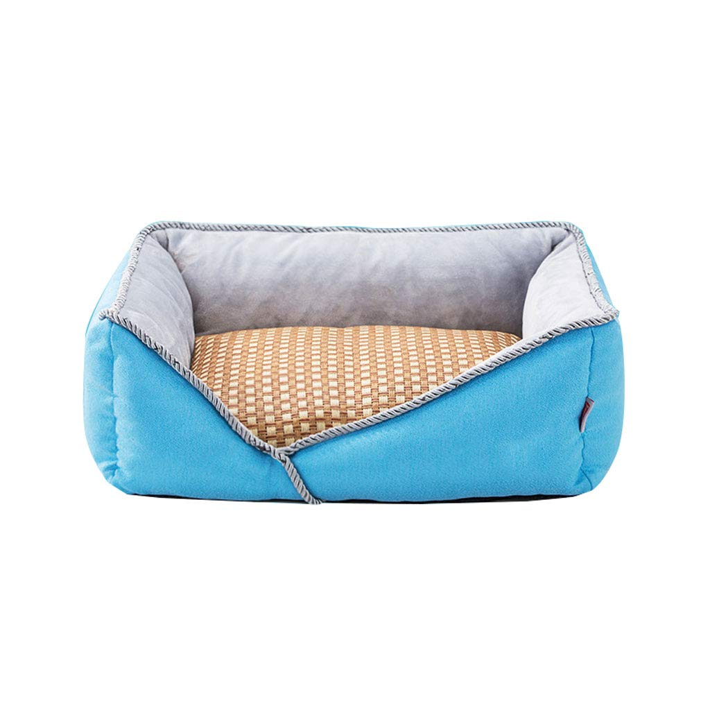 Light bluee M 605019cm Light bluee M 605019cm LITING Kennel Removable And Washable Four Seasons Universal Net Red Cat Litter Small Medium Dog Dog Winter Warm Pet Supplies (color   Light bluee, Size   M 60  50  19cm)
