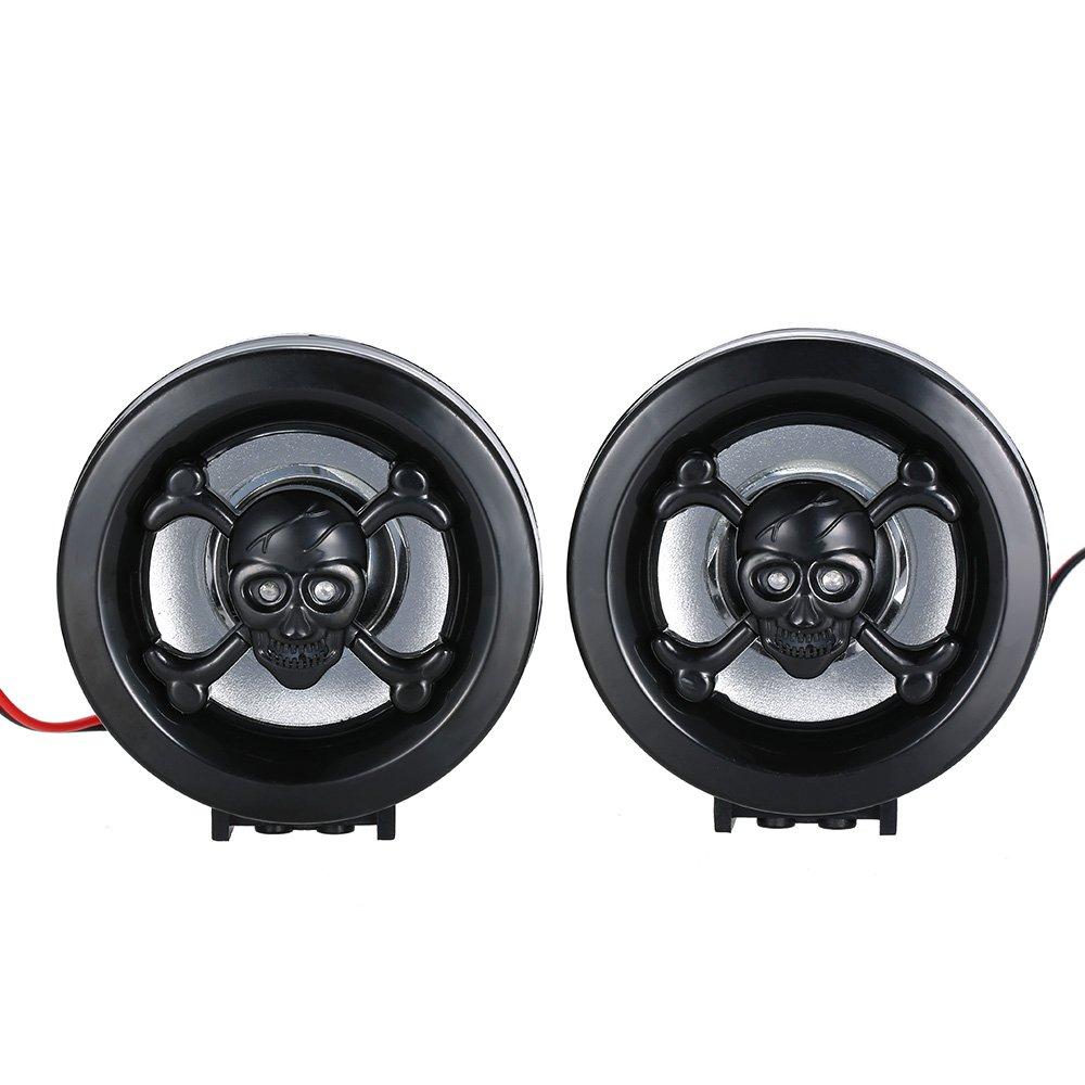 KKmoon Audio Altavoces Amplificador Impermeable Estéreo FM MP3 USB AUX Remoto con Sistema de Alarma para Motocicleta: Amazon.es: Coche y moto