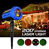 Christmas Projector Lights Garden Laser Light - MINO Ant Outdoor Laser Landscape Star Shower Projector Lights with RF Remote for Xmas/Holiday Party Landscape Decoration, FDA Approved, All Aluminum