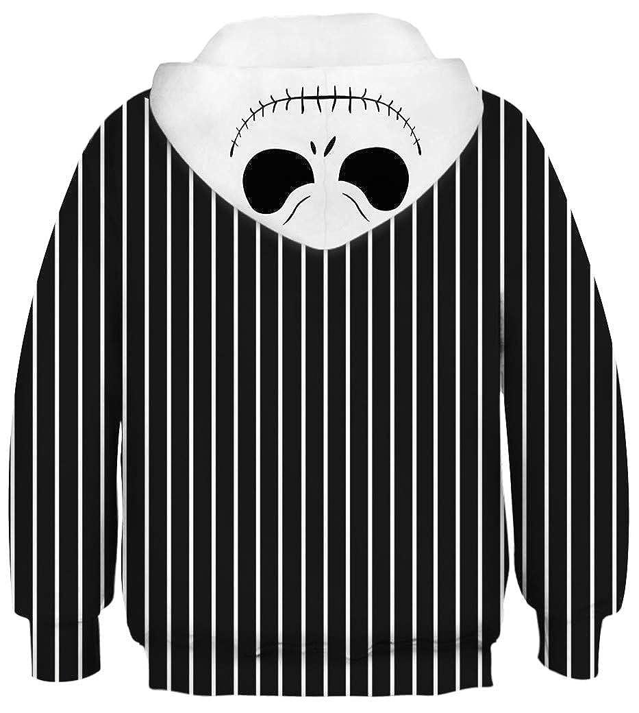 Ocean Plus Bambini Ragazzi Impronta Animale Felpa con Cappuccio 3D Giovane Maniche Lunghe Felpa Sweatshirt
