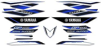 Blue AMR Racing Jetski Graphics Kit Sticker Decal Compatible with Yamaha WaveRunner GP 1800 2017