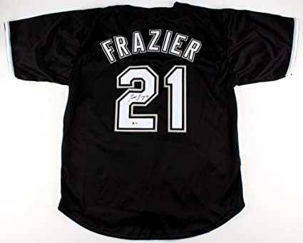 size 40 518a4 e2acc TODD FRAZIER SIGNED JERSEY w/ COA NY METS YANKEES CHICAGO ...