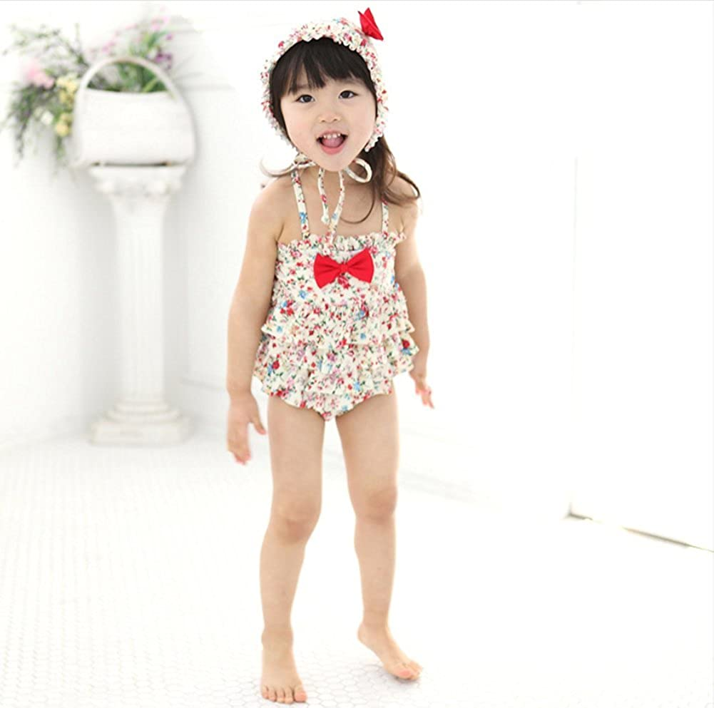 One Piece Swimsuit Animal Printed Bathing Suit Swimwear For Little Girls