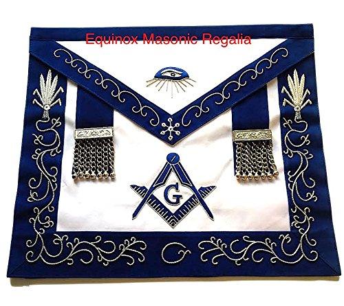 マスターMason Dress Up Out OnパブリックブルーLodgeブルーベルベットシルバー刺繍エプロンRegalia   B00MKH7W34