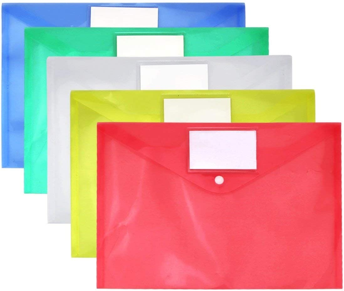 Cartelline Trasparenti A4 Cartelline Portadocumenti Cartelle Impermeabile Plastica Per Documento Storage 10PCS A