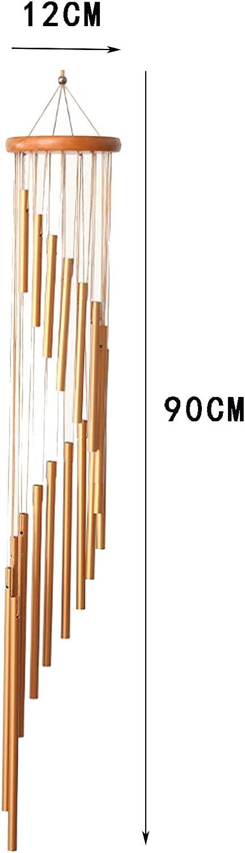 Windspiele F/ür Drau/ßen FGX Windspiele F/ür Den Garten 90cm Windspiel Garten Klangspiel 18 Aluminiumlegierung Rohre Wind Bell Mit Holz Design F/ür Gartenterrasse Hinterhof Home Decor Dekoration