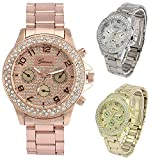Women Quartz Watches COOKI Clearance Analog Female Watches on Sale Stainless Steel Lady Wrist Watches-H84