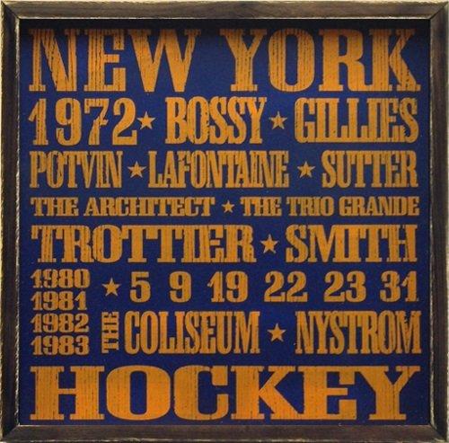 New York Islanders Vintage Style Wooden Sign-18x18