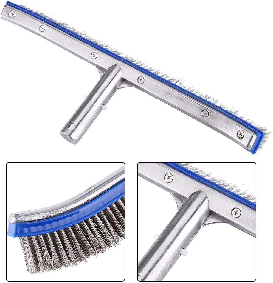Brosse en Acier pour Piscine avec Aluminium et Acier Inoxydable pour Le Nettoyage de Piscine