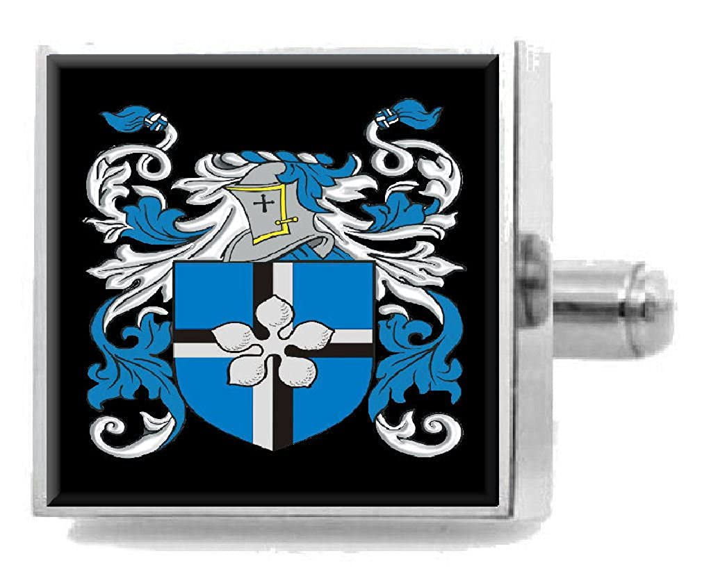 Select Gifts Lumb England Family Crest Surname Coat Of Arms Cufflinks Personalised Case