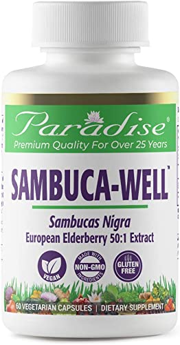 Elderberry - Sambuca-Well, Herbal Extract 75 1, 60 Count