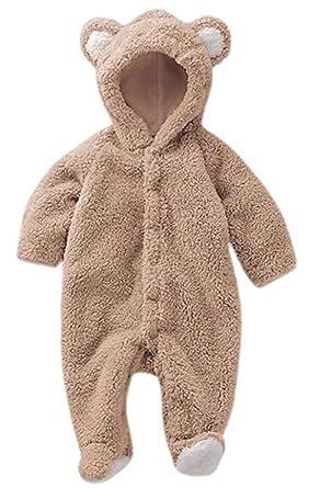 d6c782655 Amazon.com: Luckyauction Baby Toddler Winter Cute Bear Fleece Romper ...