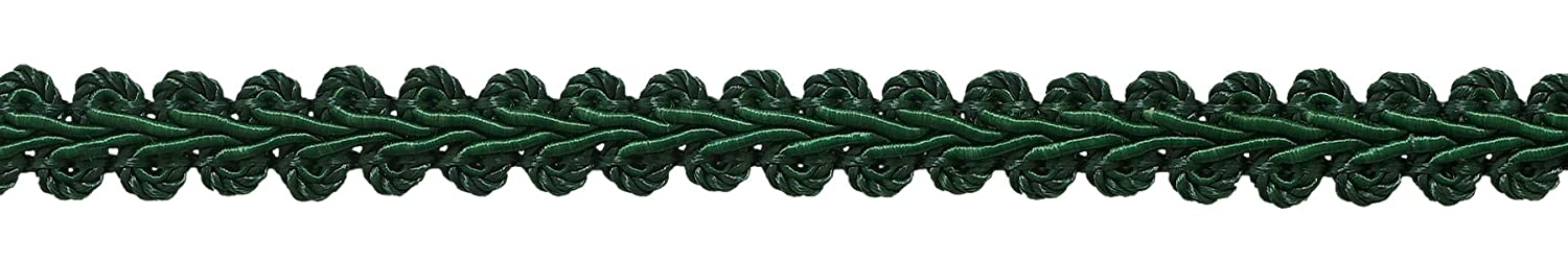 DecoPro 1.27cm Basic Trim French Gimp Braid, Style# FGS Color HUNTER GREEN - G10, Sold by the Yard (1 Yard = 91cm/3ft/36)