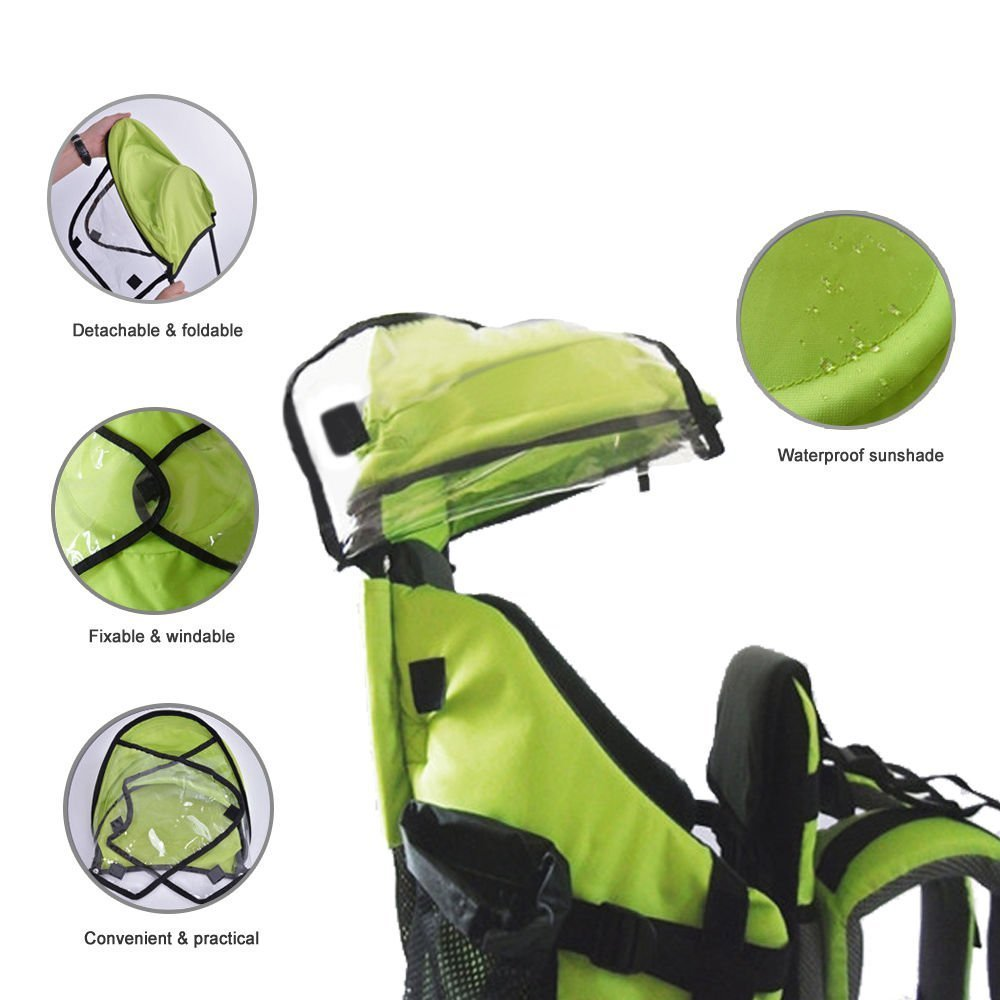 TECKCOOL Baby Toddler Backpack Cross country Carrier w//Stand Child Kid Sunshade Visor,Upgraded foot straps,Holds up to 50 Pound Ideal for Children Between 6 months-4years old Baby Carrier