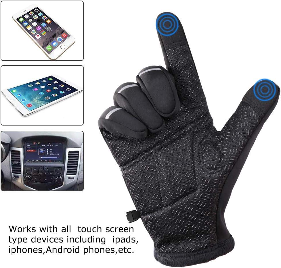 moonlux Gants Hiver Chaud Anti-d/érapant de Sport Homme Gant Hiver pour Ext/érieur Compatibles /Écran Tactile Gants de V/élo Coupe-Vent Imperm/éable Running Randonn/ée Gants