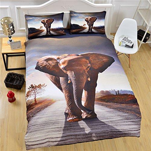 LightInTheBox Elephant 3d布団カバーセットComfortersホットホームBedlinenソフト寝具セット クイーン グレー S545949500005#DHL#wh= B07234X4HP クイーン クイーン