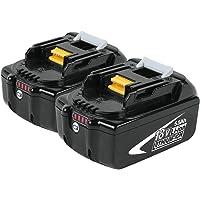 Boetpcr 2x BL1860B 18V 5.5 Ah batería