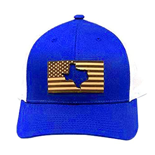 e32c57c7061c9 Amazon.com  Stoked Hats - Handmade US Flag - Texas Unique Custom-Made Lone  Star state cut US Flag on Top Trucker Comfortable Hats