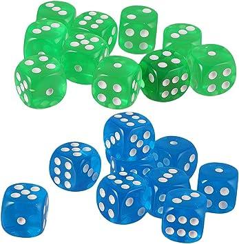 B Blesiya D6 Dados de Puntos para Juego de Mesa de Tablero Board Game Toy (20 pcs): Amazon.es: Juguetes y juegos